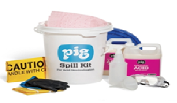 hydrofluoric acid spill kit content in white pail