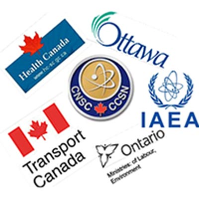 Regulatory and Reference (Collage of CNCS, HC, TC, Ontario Ministry of Labour, IAEA, NORM , Canadian Radiation Protection association, Health Physics society)